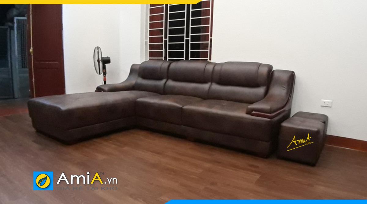 Sofa góc giá rẻ Ngã Tư Sở - khách đặt làm theo yêu cầu riêng tại AmiA