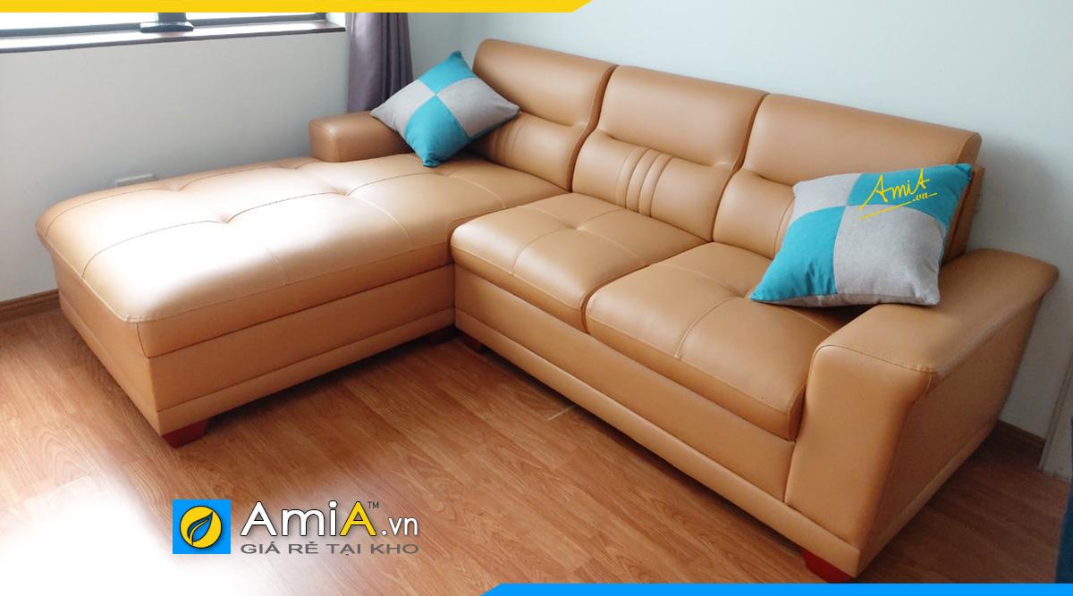 Mẫu ghế sofa góc đẹp hiện đại kê chung cư cao tầng