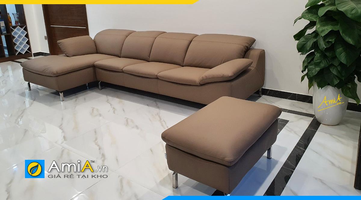 Sofa góc nhà ống nhầ phố hiện đại tại nhà khách ở Trần Bình- Cầu Giấy
