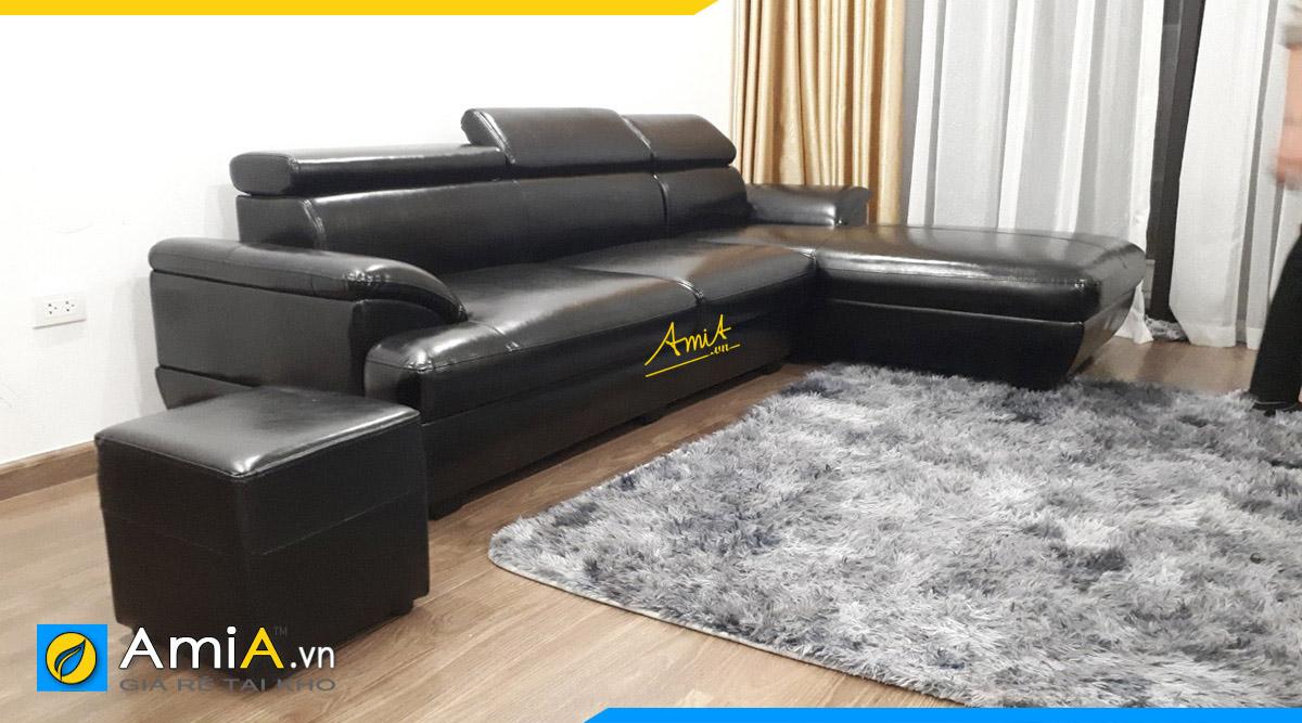 Bộ sofa góc tiết kiệm không gian 1 cách tối ưu nhất khi kê ở góc phòng được khách đặt làm theo yêu cầu tại AmiA