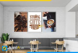 hinh anh tranh decor quan cafe dep