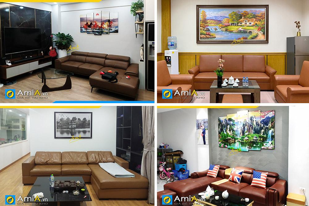 Hình ảnh Các mẫu sofa da đẹp