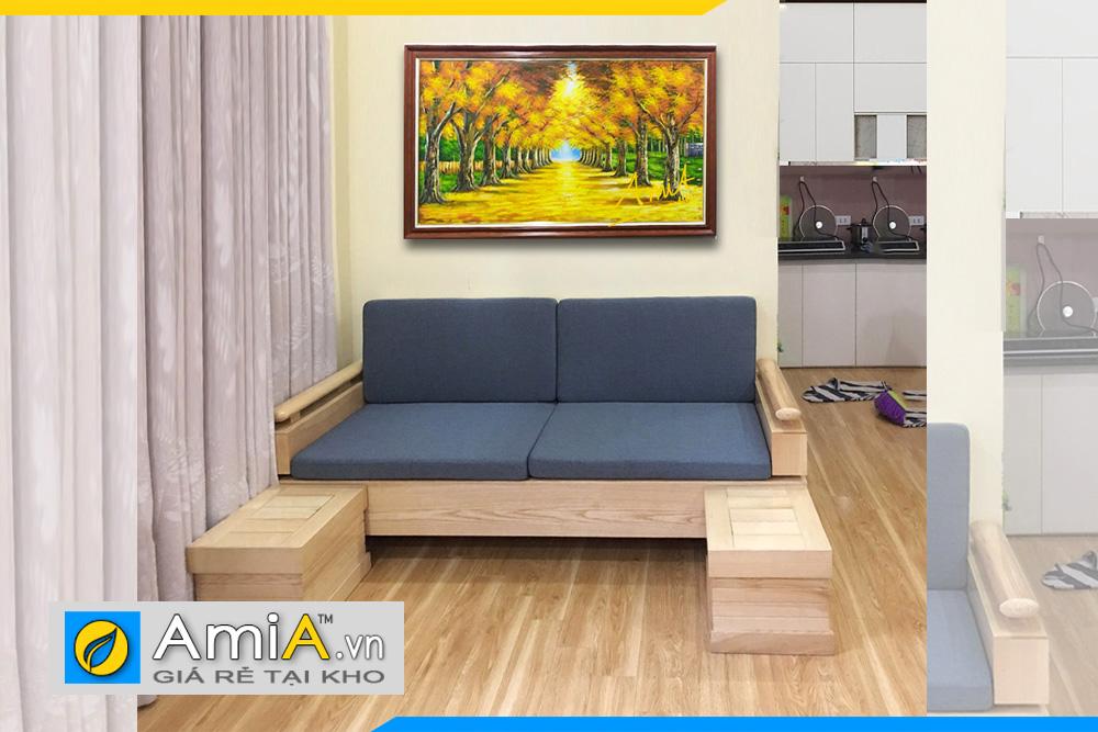 Sofa gỗ sồi văng phòng khách
