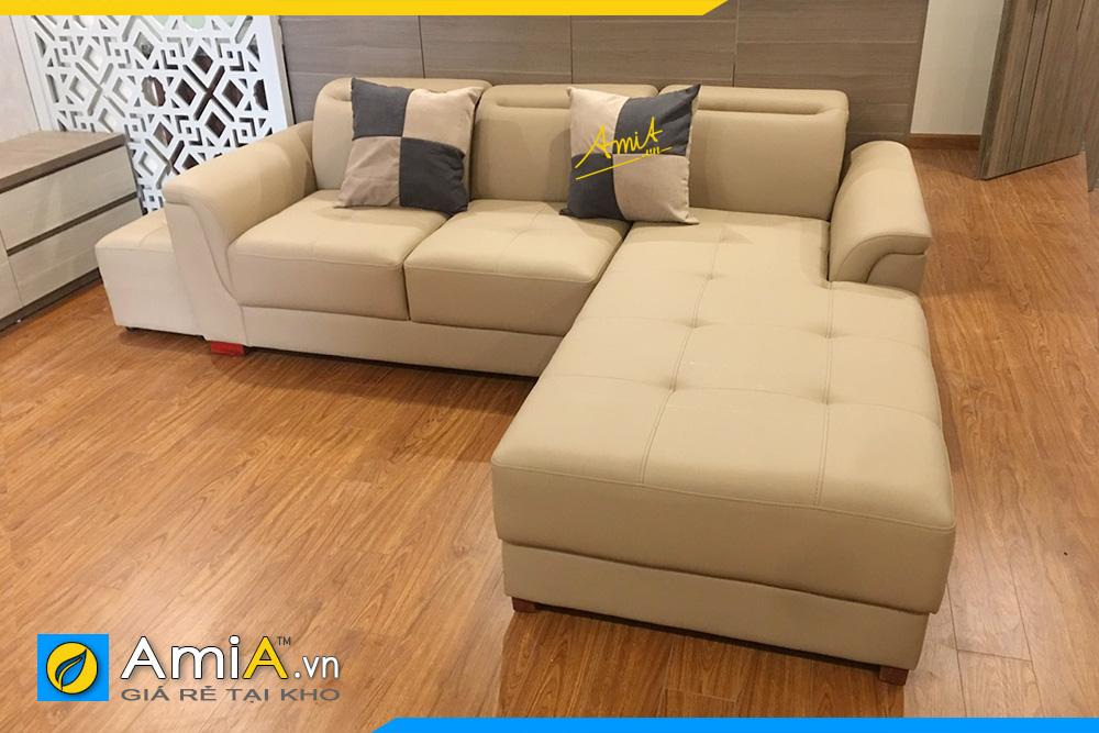 sofa da công nghiệp đẹp hiện đại
