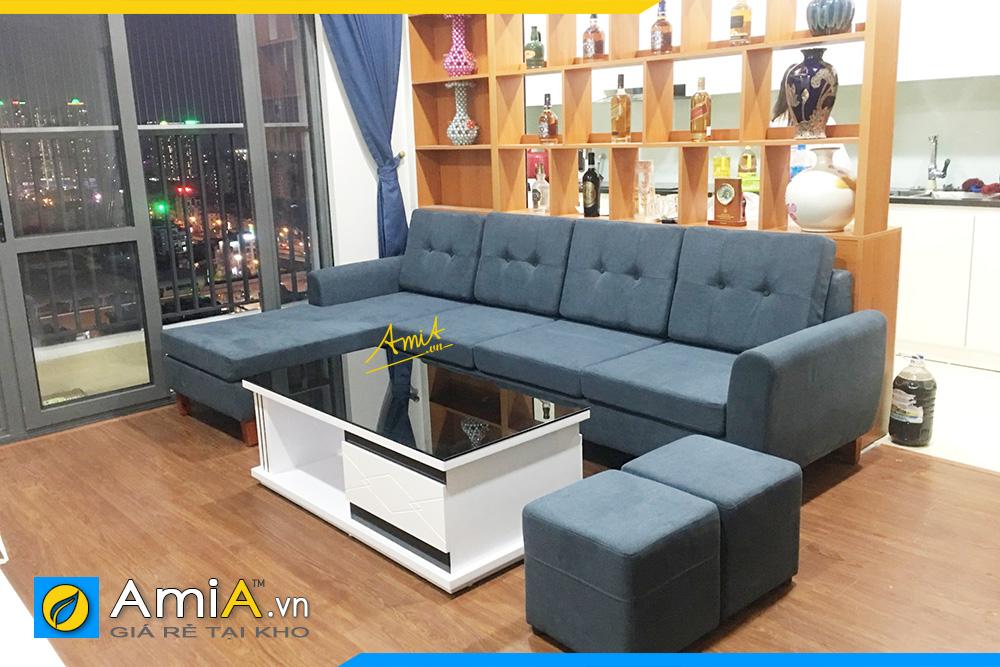 sofa góc nỉ giá rẻ