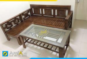 SFG 24061 sofa gỗ Sồi đẹp