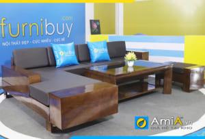 sofa gỗ sồi đẹp SFG 180621