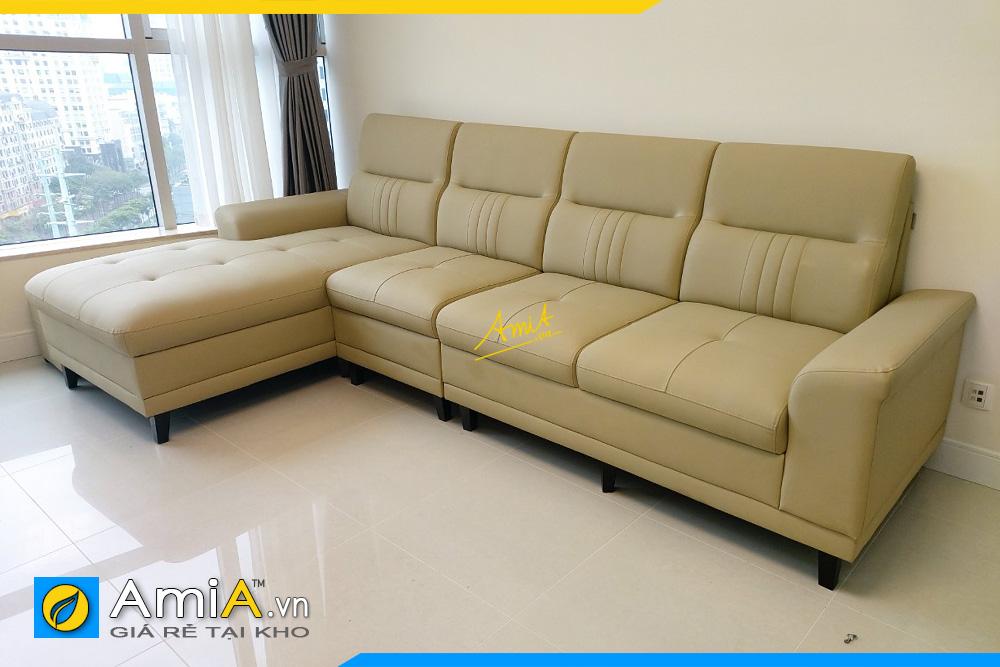 sofa goc da ke canh ban cong chung cu cao cap
