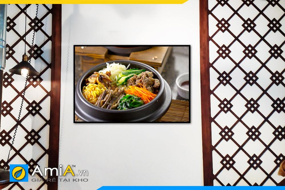 Hình ảnh Tranh đồ ăn treo nhà hàng quán ăn uống Hàn Quốc mã NH08