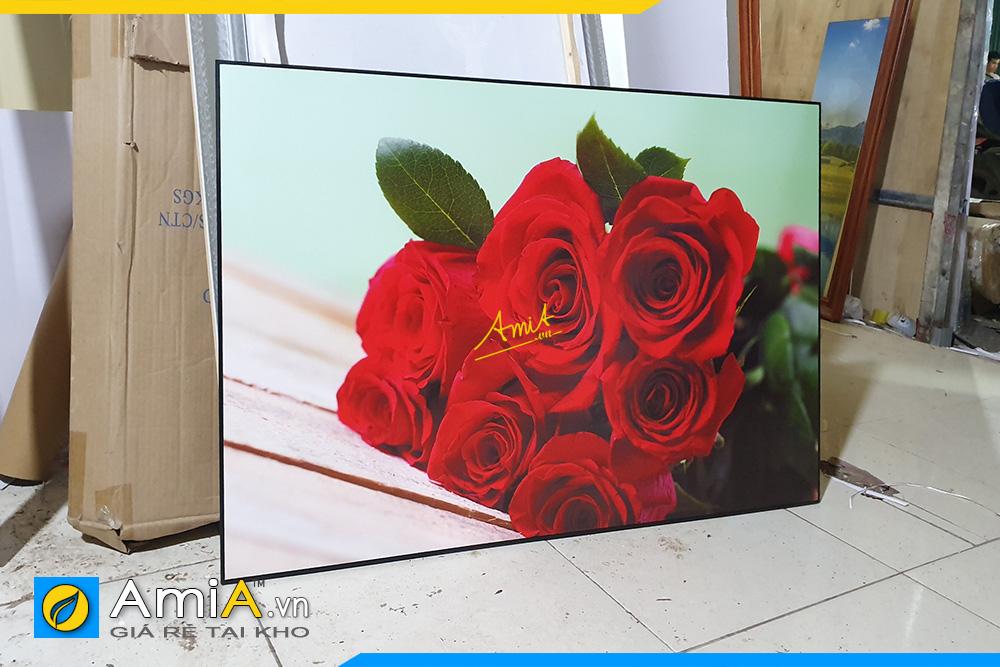 Hình ảnh Tranh hoa hồng làm theo yêu cầu tại xưởng sản xuất cho nhà hàng quán ăn