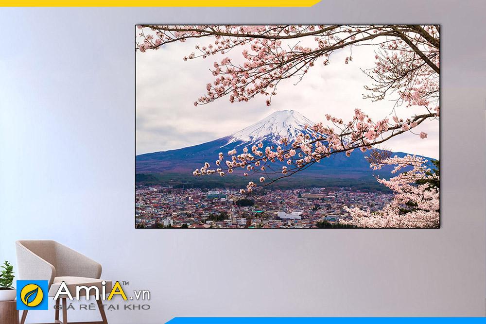 Hình ảnh Tranh phong cảnh Nhật Bản đẹp treo tường nhà hàng quán ăn