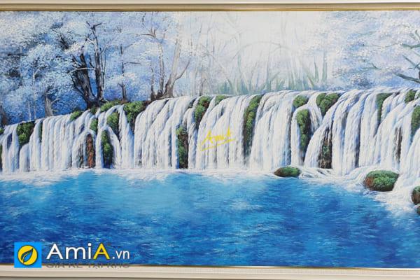 Hình ảnh Tranh thác nước vẽ sơn dầu treo tường phòng khách AmiA TSD TN01