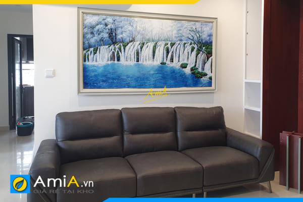 HÌnh ảnh Tranh trang trí phòng khách 1 tấm vẽ sơn dầu đẹp sang trọng AmiA TSD TN01