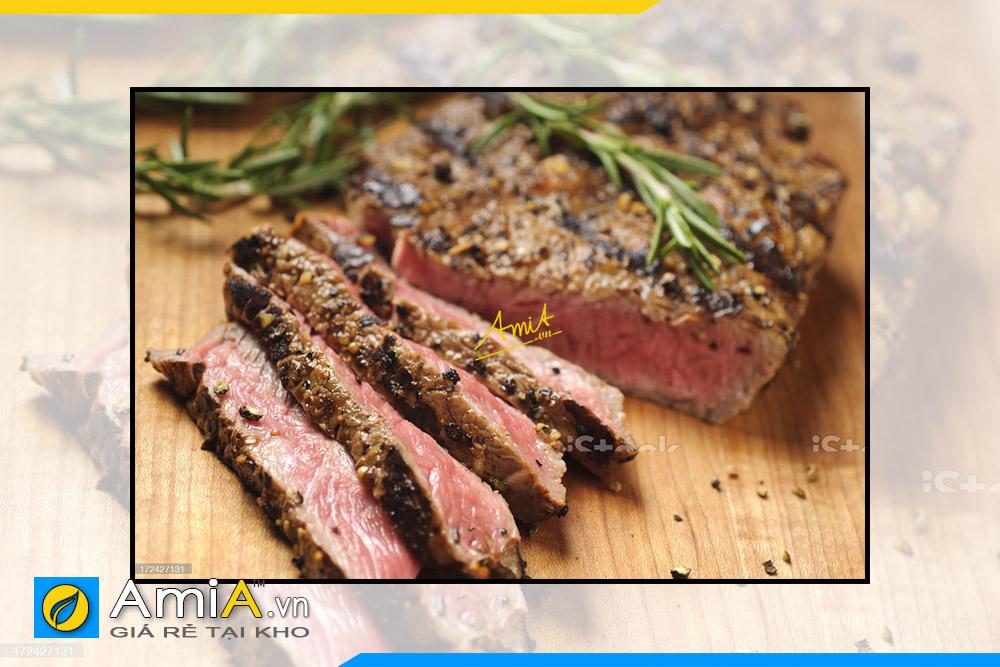 Hình ảnh Tranh treo nhà hàng Châu Âu hình ảnh món ăn đặc trưng NH27