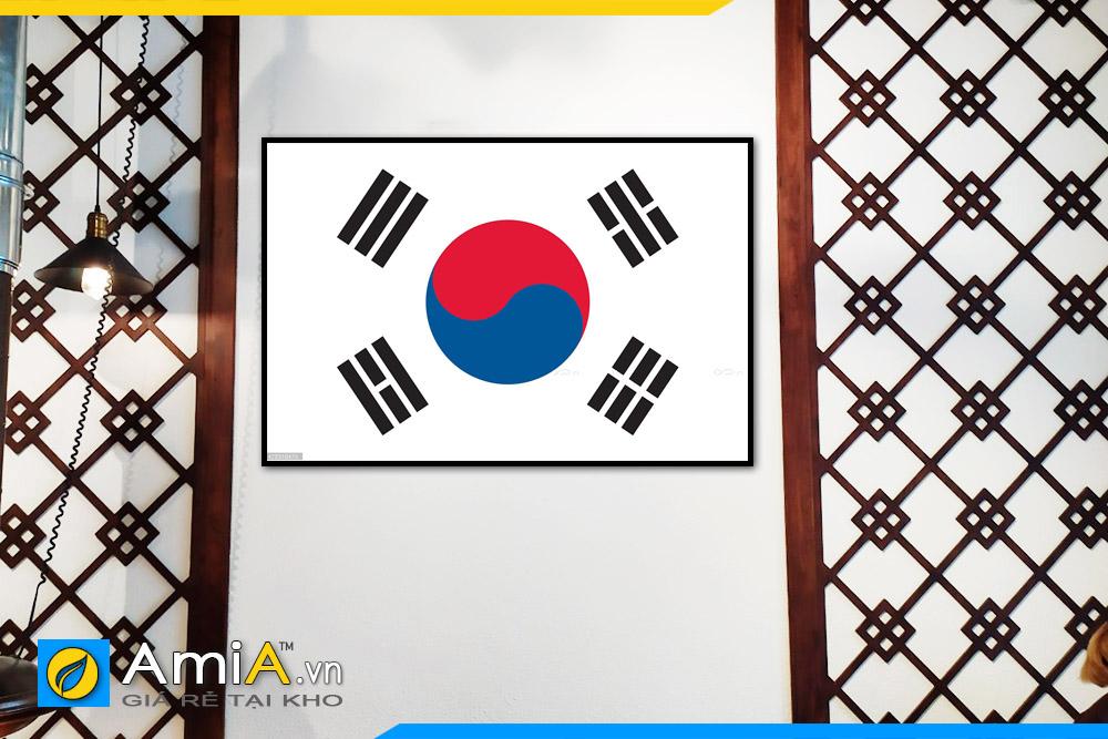 Hình ảnh Tranh treo nhà hàng Hàn Quốc đẹp quốc kỳ Hàn Quốc mã NH11