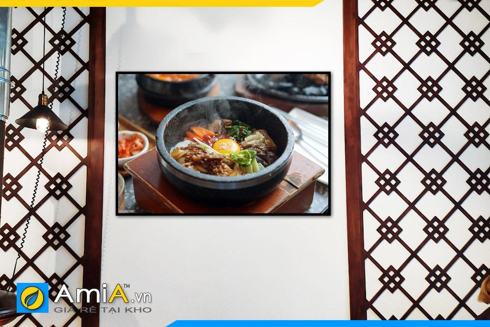 Hình ảnh Tranh treo tường Hàn Quốc chủ đề món ăn cho nhà hàng quán ăn mã NH09