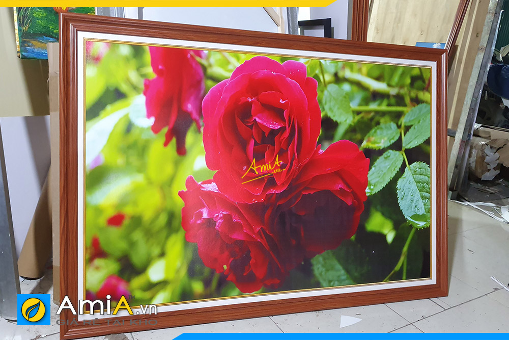 Hình ảnh Tranh treo tường nhà hàng quán ăn uống chủ đề hoa hồng