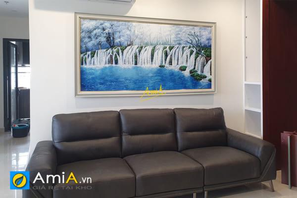 Hình ảnh Tranh treo tường phòng khách thác nước chảy tiền tài AmiA TSD TN01