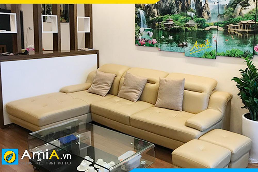 Ghế sofa da AmiA342 được đặt làm theo yêu cầu về màu sắc