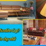 mẫu ghế sofa bọc da microfiber