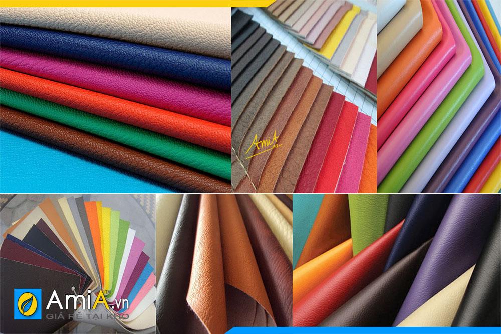 Ưu điểm của sofa da công nghiệp là đa dạng màu sắc hơn da thật. Lựa chọn màu sắc theo sở thích hay theo phong thủy tùy ý khách