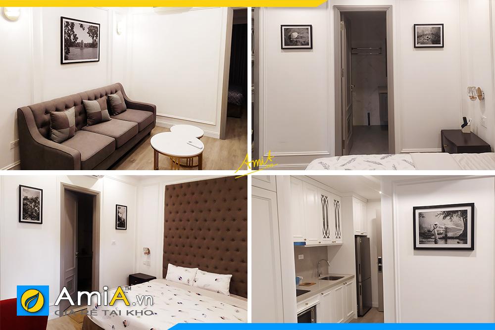 Hình ảnh Các mẫu tranh đen trắng treo tường khách sạn đẹp sang trọng
