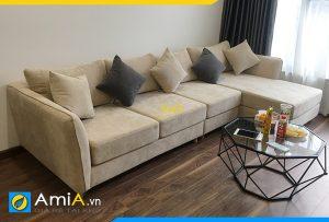 Sofa góc nỉ đẹp AmiA330