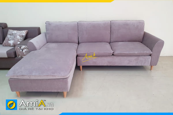 Ghế sofa góc nỉ vải đẹp giá rẻ AmiA312