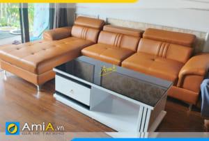 ghế sofa góc chữ L đẹp phòng khách AmiA306