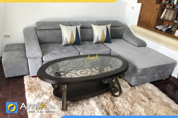 ghế sofa góc nỉ vải đẹp giá rẻ AmiA206