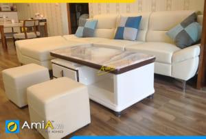 Ghế sofa góc không tay vịn AmiA310