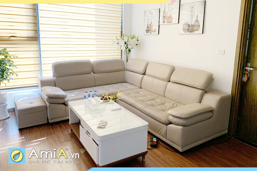 sofa da đẹp hiện đại