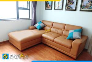 sofa góc đẹp phòng khách AmiA316