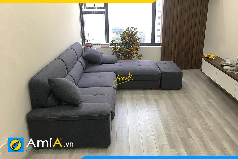 sofa góc nỉ đẹp giá rẻ