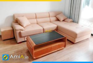 Ghế sofa da hiện đại AmiA314
