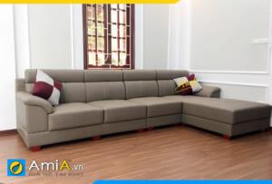 sofa góc chữ L đẹp phòng khách AmiA302