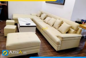 sofa góc cỡ lớn phòng khách AmiA324
