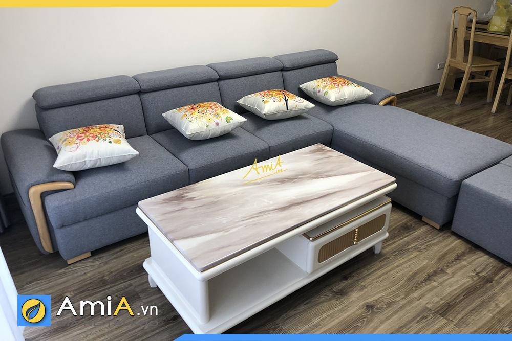 sofa nỉ hiện đại phòng khách AmiA340