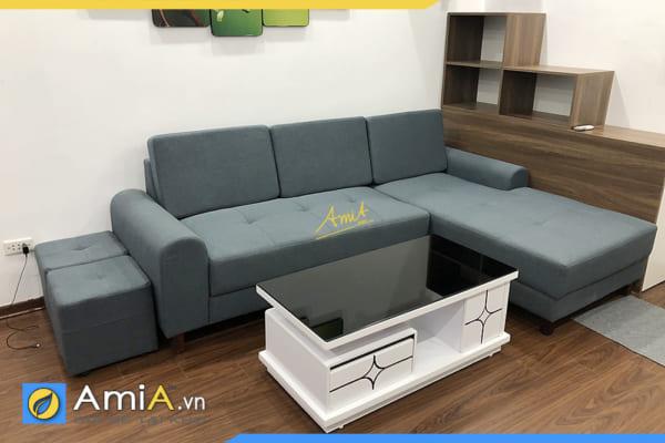 ghế sofa góc nỉ thô AmiA318
