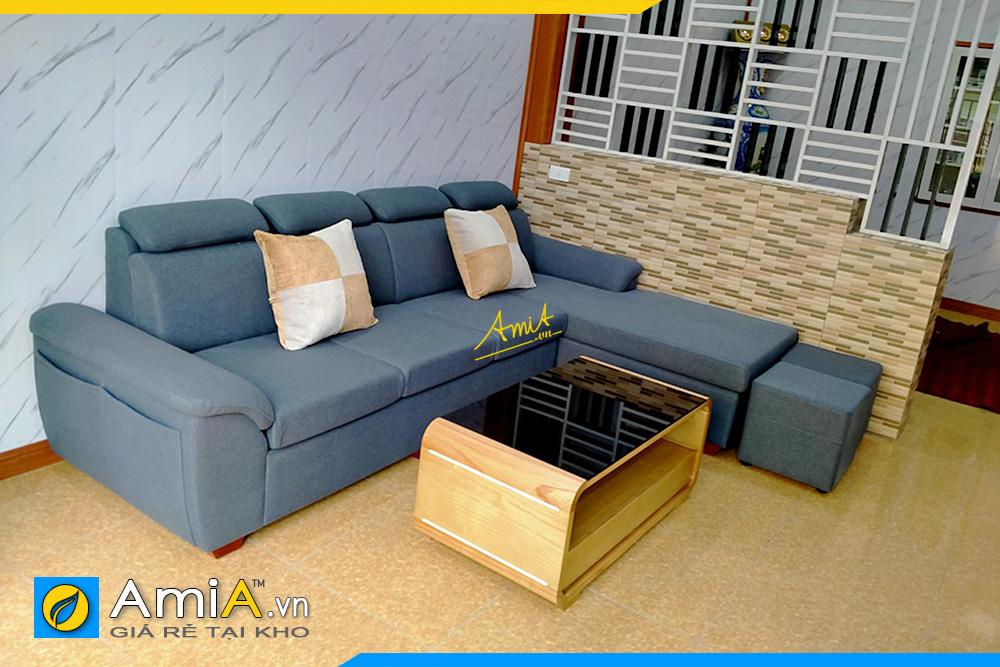 sofa góc nỉ thô đẹp hiện đại