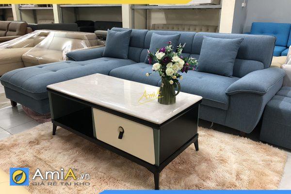 sofa góc nỉ đẹp giá rẻ AmiA336