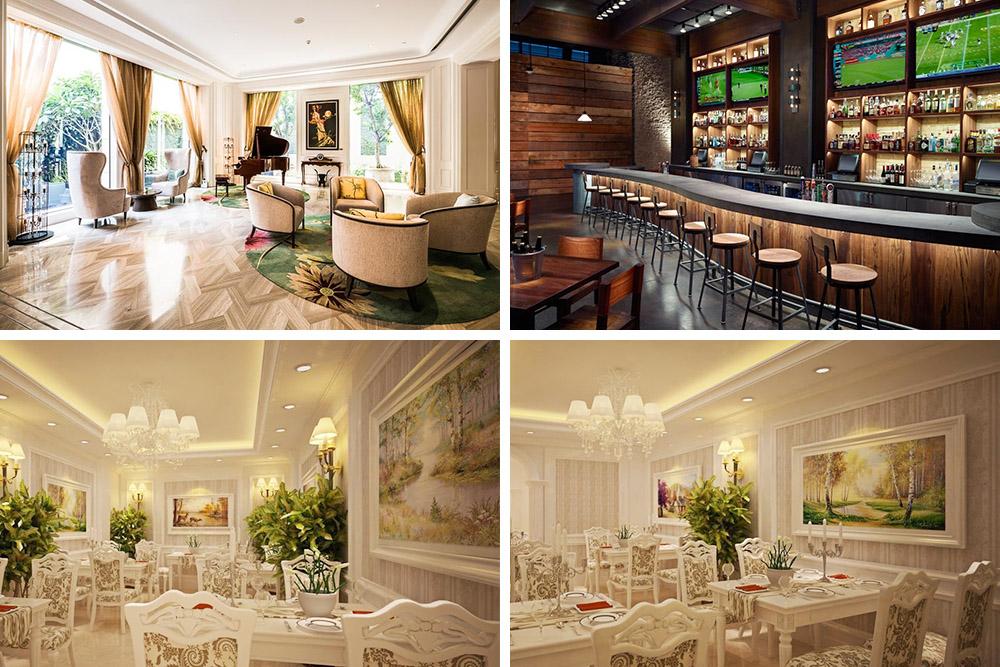 Hình ảnh Tranh nhà hàng quán bar khách sạn đẹp sang trọng