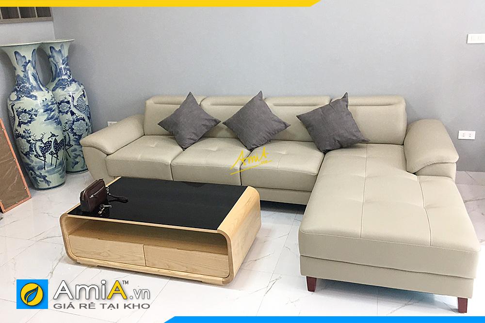 Mẫu sofa góc đẹp tựa gật gù AmiA093