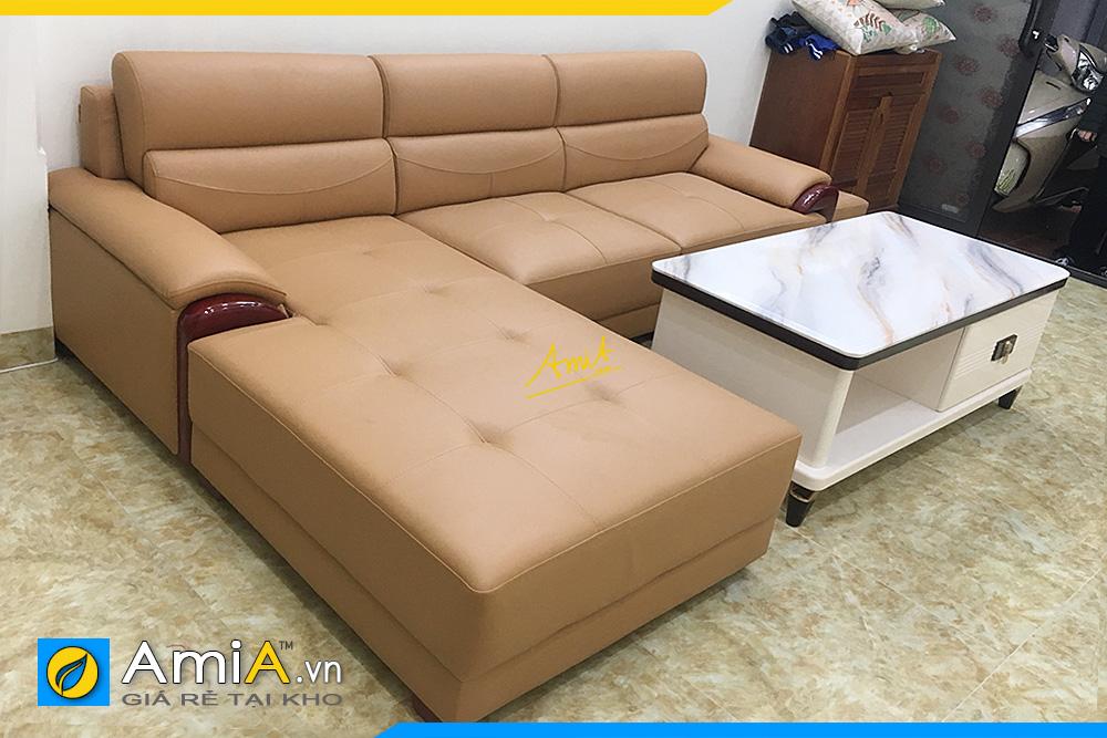 Ghế sofa góc da hiện đại AmiA344
