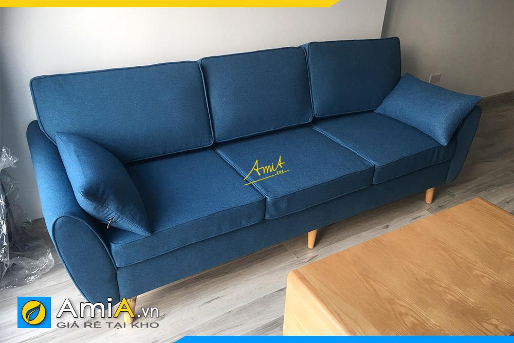 ghe sofa vang ni mau xanh ke phong khach