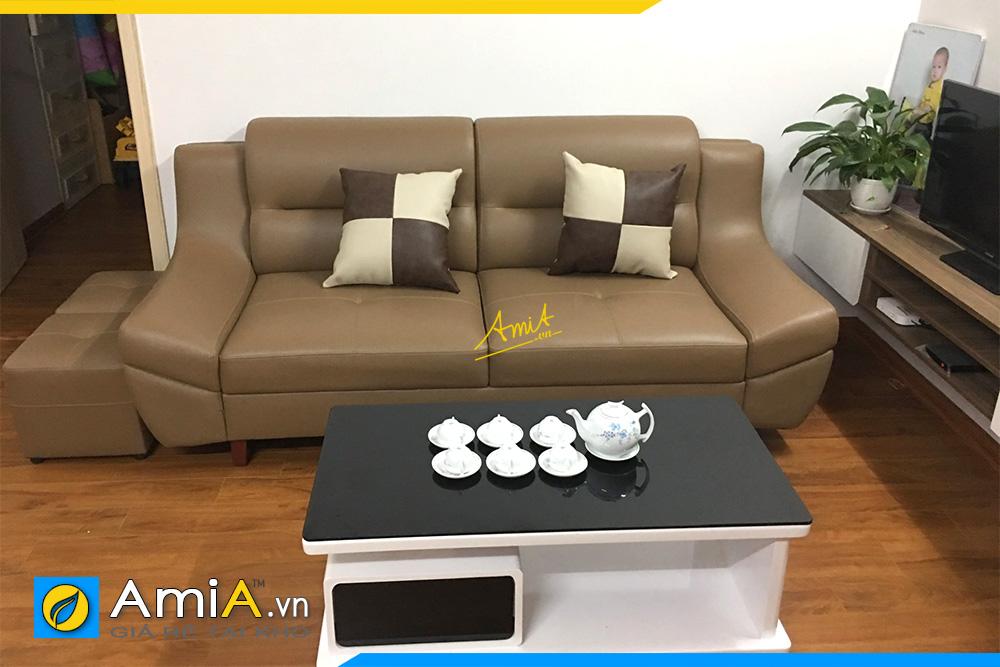 mua ghe sofa da mini cho phong khach dep