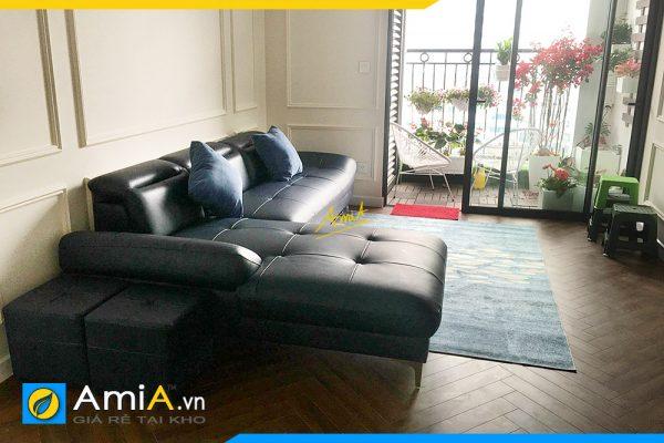 Sofa góc đẹp kê phòng khách AmiA346