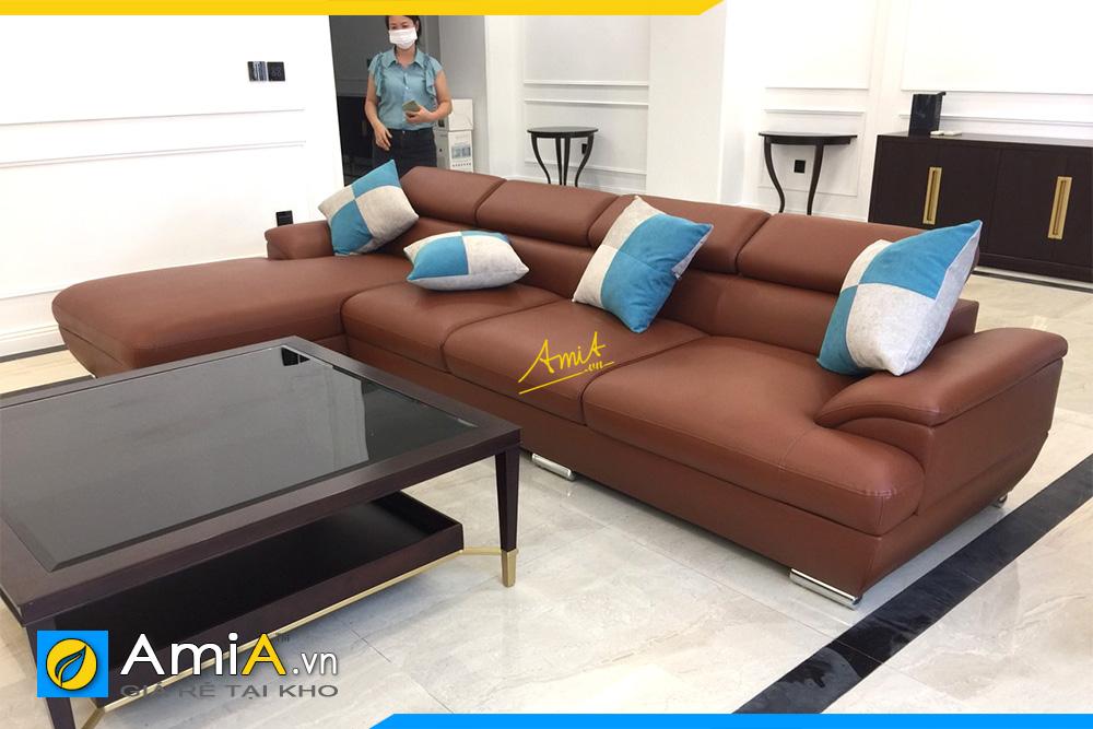 sofa phong khach boc da hien dai
