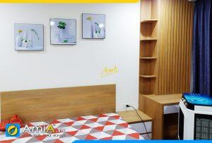 Hình ảnh Bộ tranh bình hoa trắng đẹp trang trí phòng ngủ AmiA 1318