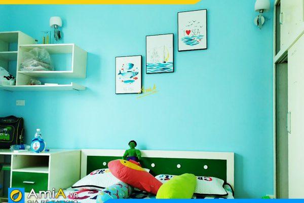 Hình ảnh Bộ tranh canvas treo phòng ngủ chủ đề thế giới đại dương AmiA 1487